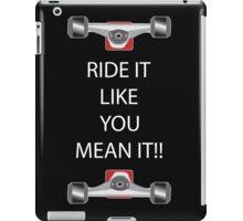 skateboarding trucks iPad Case/Skin