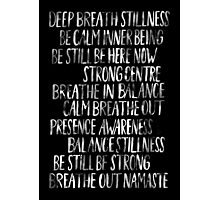 Namaste (Black) Photographic Print