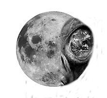 Alienated Moon Photographic Print