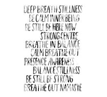 Namaste (White) Photographic Print