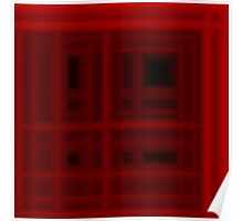 Deep Red Plaid Poster