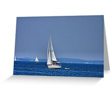 Hot August Sailing Greeting Card