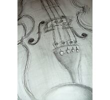 violin pencil sketch © 2009 patricia vannucci Photographic Print