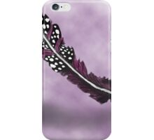 Purple and Black Spotted Feather iPhone Case/Skin