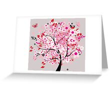Wonderful pink tree Greeting Card