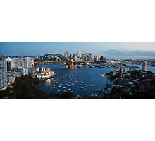 Sunset at Sydney Harbour Photographic Print