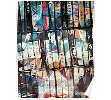 Musical Cassette Tapes Collage Poster