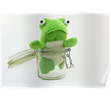 Frog in a jar  Poster