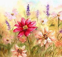 Zinnia Garden by LinFrye