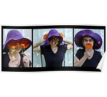 Flowers senses triptych Poster