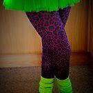 TuTu, Leopard Print and Neon by Karen  Betts