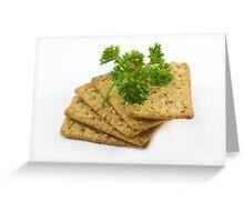 Sesame Crackers Greeting Card