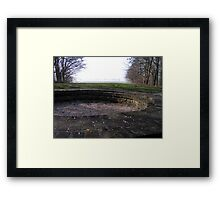 Remains of the light tower of Schokland Framed Print