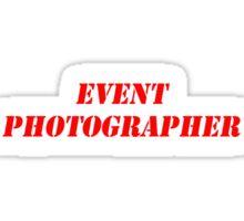 Event Photographer Sticker