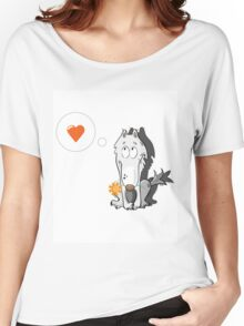 Wolf in love. Women's Relaxed Fit T-Shirt