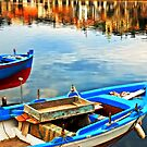 Boats in Autumn by Silvia Ganora