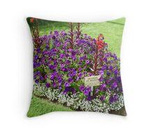 seaton in bloom Throw Pillow