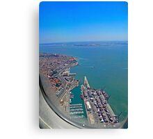 Lisbon Harbour... Canvas Print
