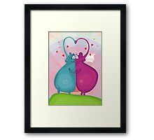elephant wedding Framed Print