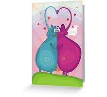 elephant wedding Greeting Card