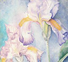 Softest Irises (Detail) by AngelArtiste