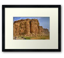 Naqsh-E Rostam - Necropolis - Single Tomb - Iran  Framed Print