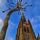 Church & Tree - London - England by Bryan Freeman
