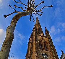 Church & Tree - London - England by Bryan Freeman