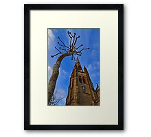 Church & Tree - London - England Framed Print