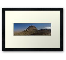 Sofeh Mountains - Esfahan - Iran - Panorama Framed Print
