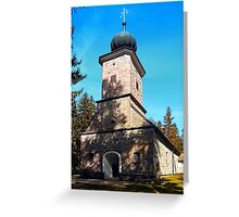 Maria Rast forest chapel | architecture photography Greeting Card