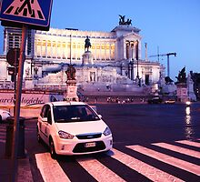 Street's of Rome, Vittorio, Emanuele monument by Monika Gorka