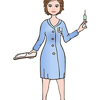 illustration of a smiling nurse by lantica