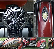 Indian Motorcycle Collage by Colleen Drew