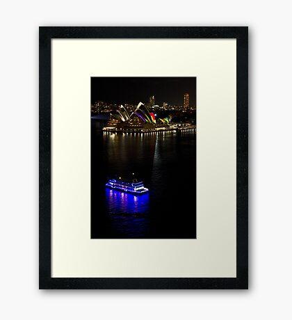 Sydney Opera House & Deep Blue - Sydney Harbour - Australia Framed Print