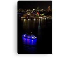 Sydney Opera House & Deep Blue - Sydney Harbour - Australia Canvas Print