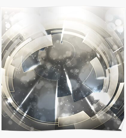 Abstract technology background. Poster