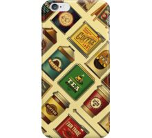 Caffienology - Retro Tins & Cans iPhone Case/Skin