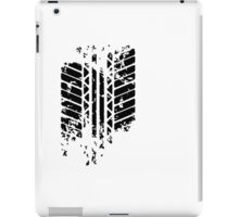 Funny Tire Mark iPad Case/Skin