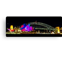 Sydney Opera House & Harbour Bridge - Vivid Festival Canvas Print