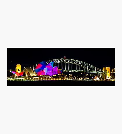 Sydney Opera House & Harbour Bridge - Vivid Festival Photographic Print