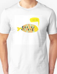 """""""i love you"""" fish - matches with """"i know"""" fish Unisex T-Shirt"""