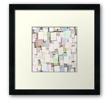 seamless paper note background Framed Print