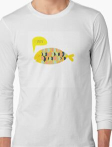 """i know"" fish - matches with ""i love you"" fish Long Sleeve T-Shirt"