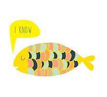 """i know"" fish - matches with ""i love you"" fish by laurathedrawer"