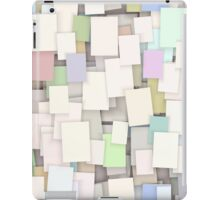 seamless paper note background iPad Case/Skin