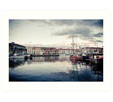 Hobart Waterfront at Sunset Art Print
