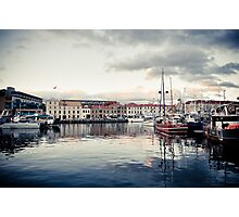 Hobart Waterfront at Sunset Photographic Print