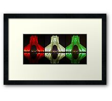 Azadi Tower (Triptych Reflection) -Tehran - Iran Framed Print