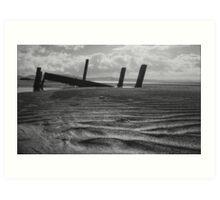 what once was..... Portsalon Beach, Donegal. Art Print